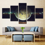 Space planet - 5 piece Canvas - EpicKanvas