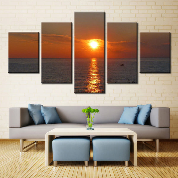 Sun and Water - 5 piece Canvas