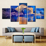 Monuments at Night - 5 piece Canvas