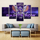 Saints Row Video Games - 5 piece Canvas