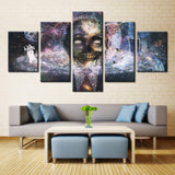 Horror skeleton  - 5 piece Canvas