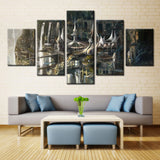 Horror house - 5 piece Canvas
