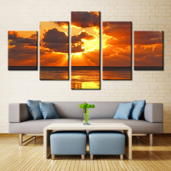 Sun Water and Sky - 5 piece Canvas - EpicKanvas