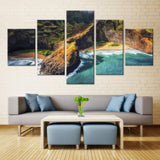 Natural Mountain- 5 piece Canvas