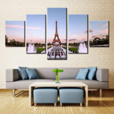 Eiffel tower  - 5 piece Canvas - EpicKanvas