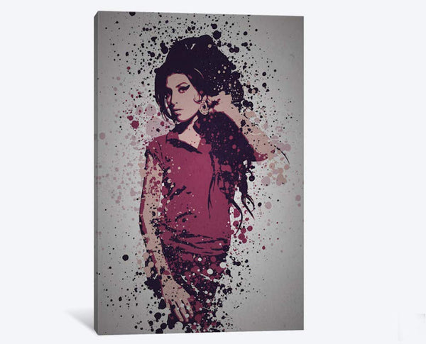 1PC Framed Amy Winehouse Canvas Artwork for Office & Home Wall Decor - EpicKanvas