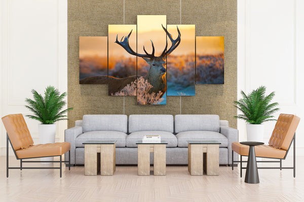 Deer in Nature - 5 piece Canvas - EpicKanvas