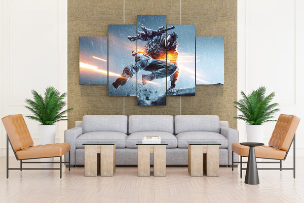 Battlefield: Soldier - 5 piece Canvas - EpicKanvas