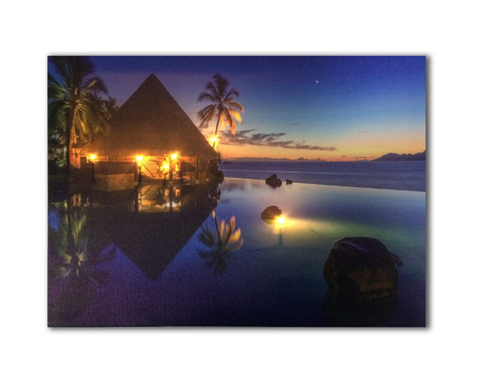 One Piece Framed Modern LED Beach House Canvas For Home/Office Decor