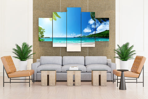 Palm Beach, Florida - 5 piece Canvas