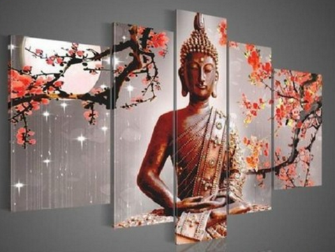 Buddha - 5 piece Canvas