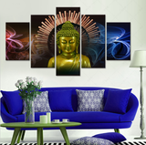 5 piece Buddha Canvas - 5 Pcs Buddha Artwork - Limited Edition - EpicKanvas
