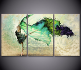 Dancing Girl Painting Canvas - 3 piece Canvas