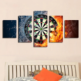 5PCS Darts Wheel target Canvas Prints - 5 piece Colorful Dart Wheel Artwork for Office/Home Decor - EpicKanvas