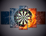 5PCS Darts Wheel target Canvas Prints - 5 piece Colorful Dart Wheel Artwork for Office/Home Decor