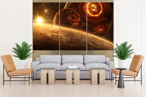 Outer Space Planet Earth - 5 piece Canvas