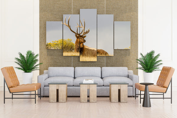 Natural Beautiful Deer - 5 piece Canvas - EpicKanvas