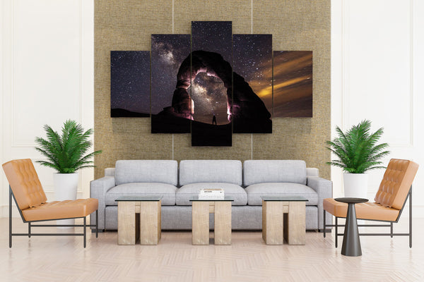 Delicate arch - 5 piece Canvas