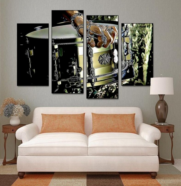 4PCS Drumer Music Canvas Artwork For Home and Office Decor - EpicKanvas