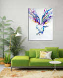 1 PC Framed Eagle Painting Canvas - One Piece Canvas Eagle on Wall Art for Office and Home Wall Decor - EpicKanvas
