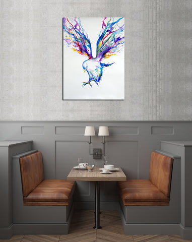 1 PC Framed Eagle Painting Canvas - One Piece Canvas Eagle Painting on Wall Art for Office and Home Wall Decor