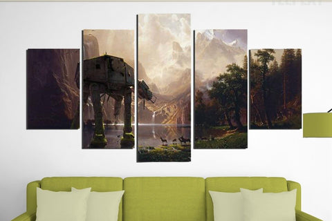 5PCS Framed StarWars Wall Art for Office & Home Wall Decor