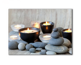 One Piece Framed Modern LED Meditation Room Tea Light Canvas For Home/Office Decor - EpicKanvas
