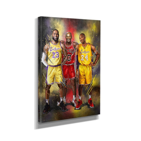 Michael Jordan Kobe Bryant Lebron James Basketball Player Canvas Art Design Painting Picture Canvas Wall Art Home Decor - EpicKanvas