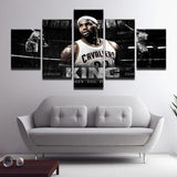 5 Piece Lebron James Cavaliers Canvas Art - EpicKanvas