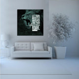 1 Piece Framed Abstract Lion Hustle Canvas Prints - 1 Piece Canvas Everyday Motivation Artwork on Wall Art for Office and Home Wall Decor
