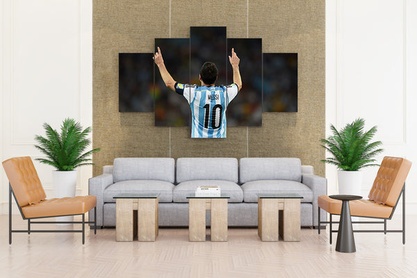 Lionel Messi Barcelona Football Player - 5 piece Canvas