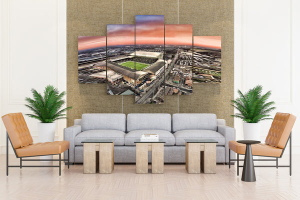 Football playGround - 5 piece Canvas - EpicKanvas