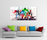 3 Pcs Framed Canvas Art Print, Abstract Watercolor Marvel Avengers Super Hero for your Home/Office Space
