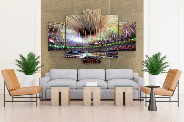 Olympics stadium Fireworks celebration Fire people - 5 piece Canvas - EpicKanvas