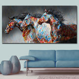 1Pc Running Framed Horse Canvas Art For Home & Office Decor - EpicKanvas