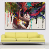 Epikkanvas Framed Lover Intense Hug Abstract Painting For Your Home & Office Beauty - EpicKanvas