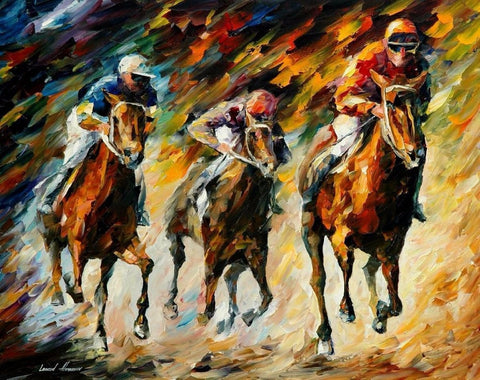 1 pcs Horse Race Painting Canvas