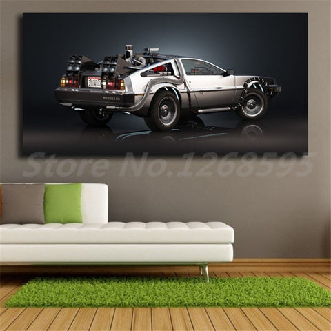 1 Piece Canvas Back To The Future DeLorean Car Future Hope Artwork For Home & Office Decor