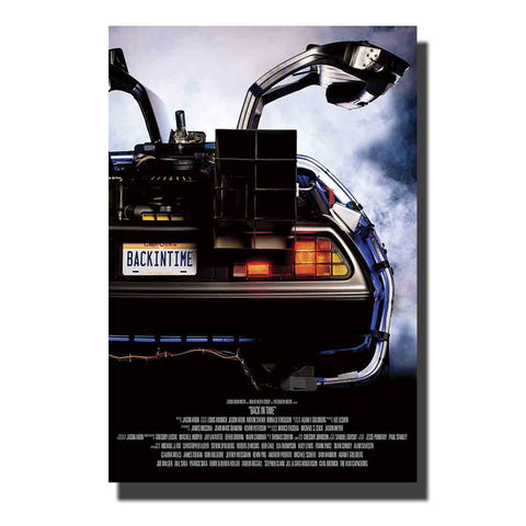 1 Piece Canvas Back To The Future - DeLorean Car Artwork For Home & Office Decor - EpicKanvas