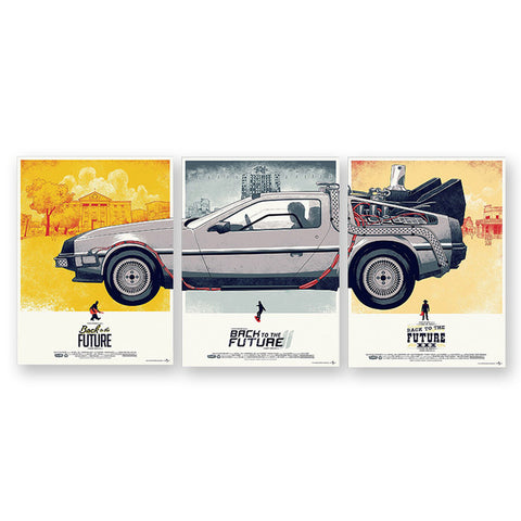 Epikkanvas 3Pcs Back To The Future Delorean Car For Home & Office Wall Decor - EpicKanvas
