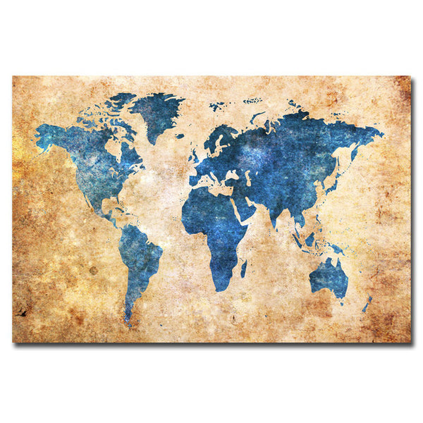 1Pc World Map Abstract Canvas Art For Home & Office Wall Decor - EpicKanvas