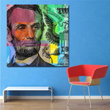 1Pc Abraham Lincoln Abstract Canvas Wall Art For Home & Office Decor - EpicKanvas