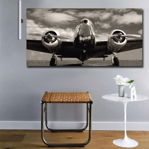 Epikkanvas - 1 Pc Abstract Airplane Wall Art For Home & Office Decor - EpicKanvas