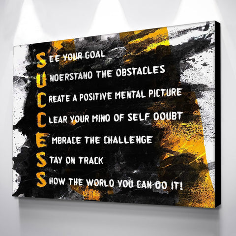 Success Canvas Artwork For Home & Office Rooms - EpicKanvas