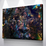 Lion & Money Abstract Wall Canvas Art - EpicKanvas