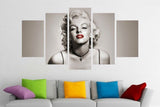 5 Piece Marilyn Monroe Canvas Artwork For Your Home & Office Wall Art Decor - EpicKanvas