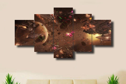 Star Wars Battle V2 - 5 Piece Canvas Painting