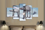 5 Piece Star Wars AT-AT Invasion Canvas Artwork - EpicKanvas