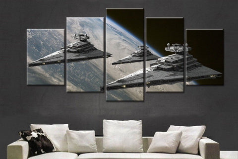 5 Piece Canvas Star Wars Super Star Destroyer Canvas Artwork for Home and Office Wall Decor - EpicKanvas