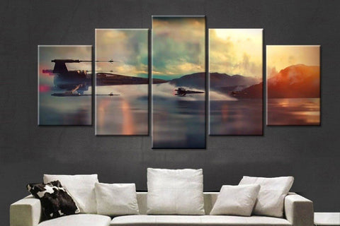 Star Wars Battle V3 - 5 Piece Starwars Iconic Canvas Art - EpicKanvas